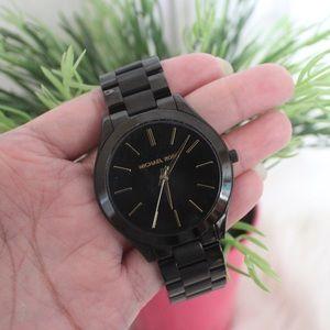 {Michale Kors} Black & Golds Watch